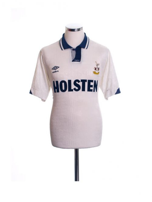 1991-1993 Tottenham Home Football Shirt Holsten