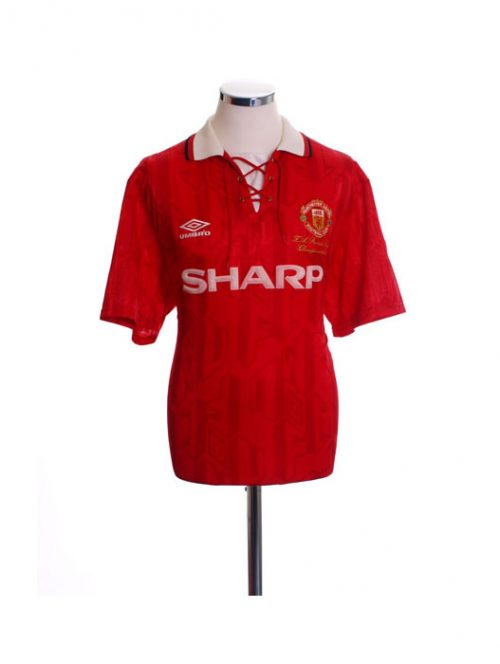 1992 1994 Manchester United MUFC Sharp Football Shirt