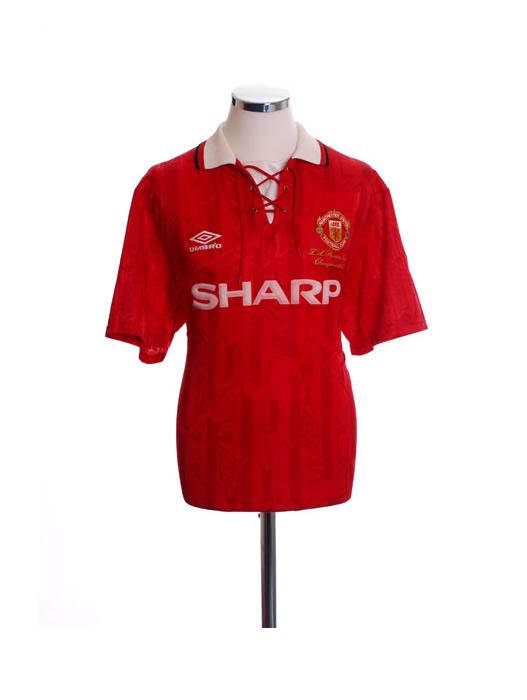 1992 1994 Manchester United MUFC Sharp Football Shirt