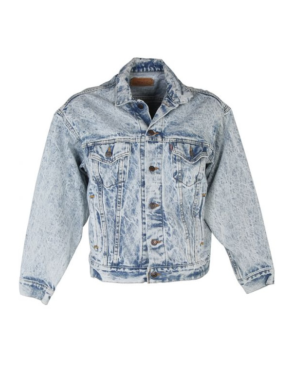 Acid Wash Denim Jean Jacket