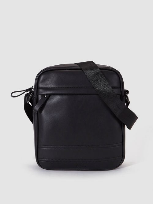 Dustin Mens Black Crossbody Bag