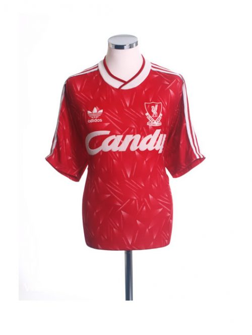 1989-1991 Liverpool LCFC Home Football Shirt Candy Large