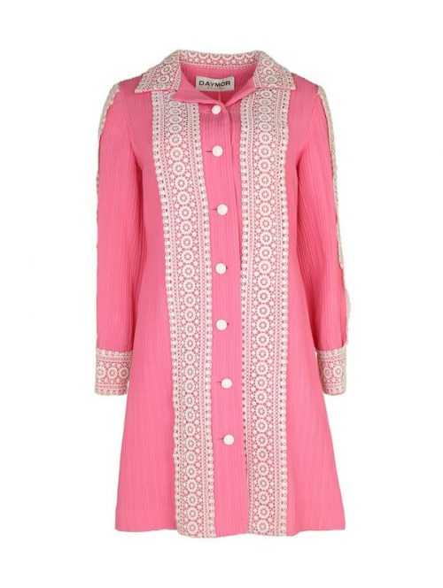Dolly Style 1960s Candy Pink Dress