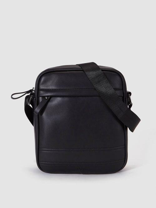 Dustin Mens Black Crossbody Bag