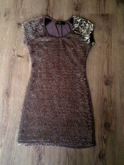 Frilly Tassles Brown Dress