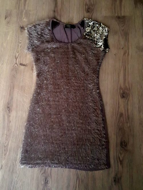 Frilly Tassles Brown Dress