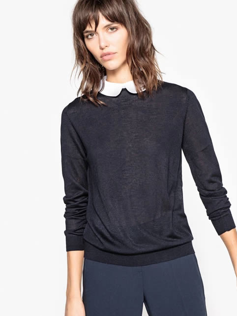 Parisian Style Peter Pan Collar Jumper