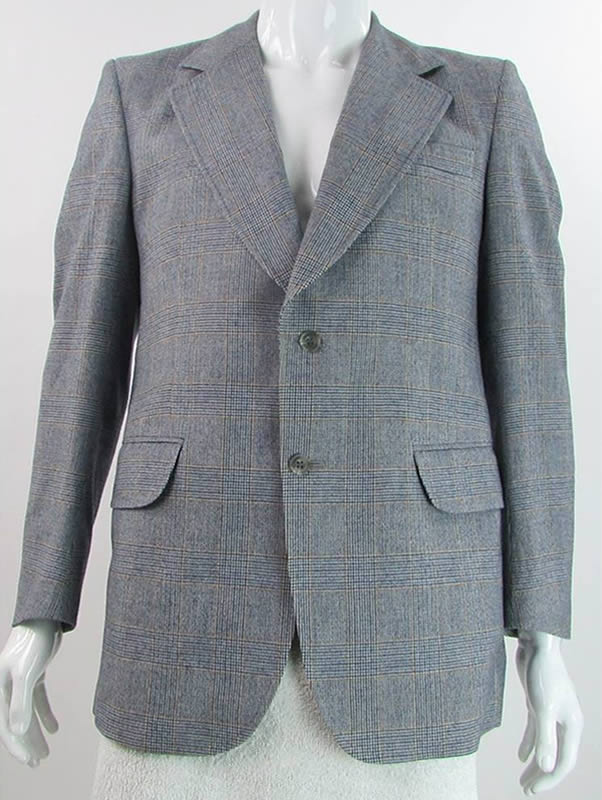 Vintage 1970s Christian Dior Grey Suit Jacket