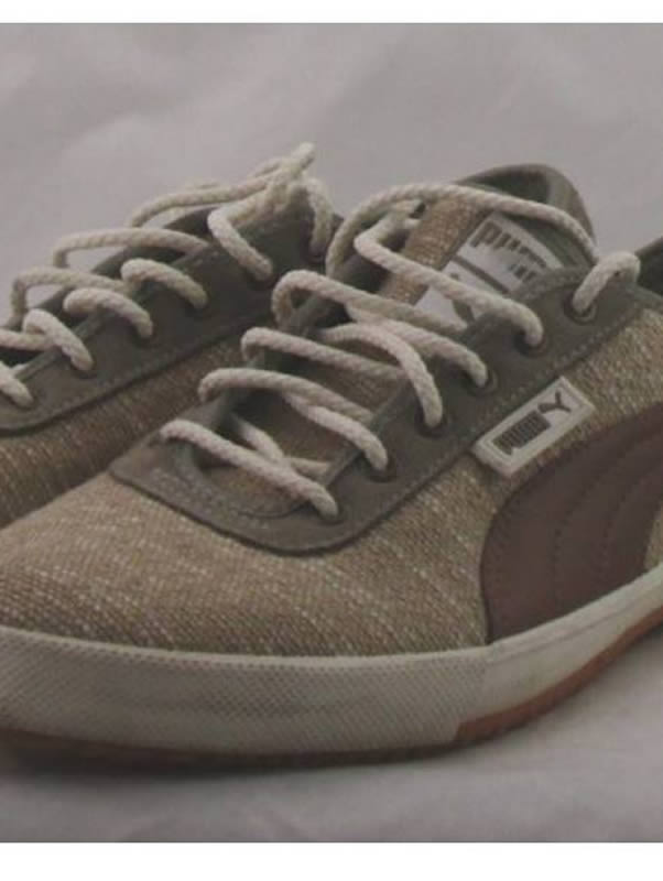 Retro Puma beige trainers